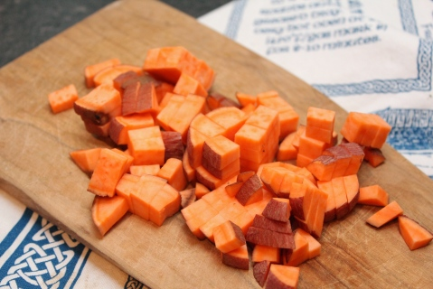 Sweet potato diced